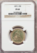 Proof Seated Quarters: , 1872 25C PR63 NGC. NGC Census: (26/91). PCGS Population (43/66).Mintage: 950. Numismedia Wsl. Price for problem free NGC/P...