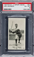 Baseball Cards:Singles (Pre-1930), 1916 M101-4 Sporting News Joe Jackson #87 PSA EX-MT 6....