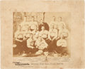 Baseball Collectibles:Photos, 1886 Detroit Wolverines Team Cabinet Photograph....