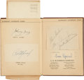 Autographs:Others, Early 1930's Waterman's Autograph Album with Philadelphia AthleticsTeam Signed Sheet, Bobby Jones Autograph....