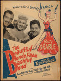 "Movie Posters:Comedy, The Beautiful Blonde from Bashful Bend (20th Century Fox, 1949). Poster (30"" X 40"") Style Y. Comedy.. ..."