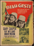 "Movie Posters:Adventure, Beau Geste (Paramount, R-1950). Poster (30"" X 40""). Adventure.. ..."