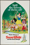 """Movie Posters:Animation, Snow White and the Seven Dwarfs (Buena Vista, R-1975). One Sheet (27"""" X 41""""). Animation.. ..."""