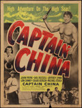 "Movie Posters:Adventure, Captain China (Paramount, 1950). Poster (30"" X 40"") Style Z.Adventure.. ..."