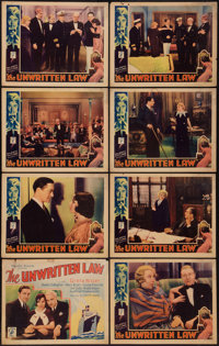 "The Unwritten Law (Majestic, 1932). Lobby Card Set of 8 (11"" X 14""). Mystery. ... (Total: 8 Items)"
