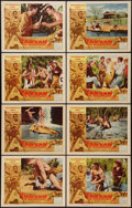 """Movie Posters:Adventure, Tarzan the Magnificent (Paramount, 1960). Lobby Card Set of 8 (11""""X 14""""). Adventure.. ... (Total: 8 Items)"""