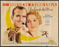 "Reaching for the Moon (United Artists, 1930). Half Sheet (22"" X 28""). Comedy"