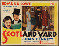"Scotland Yard (20th Century Fox, 1930). Half Sheet (22"" X 28""). Crime"