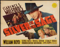 """Movie Posters:Western, Silver on the Sage (Paramount, 1939). Half Sheet (22"""" X 28""""). Western.. ..."""