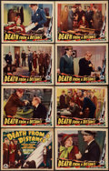 "Movie Posters:Mystery, Death from a Distance (Chesterfield, 1935). Lobby Card Set of 8(11"" X 14""). Mystery.. ... (Total: 8 Items)"