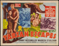 "Movie Posters:Adventure, Tarzan Escapes (MGM, R-1954). Half Sheet (22"" X 28"") Style A.Adventure.. ..."