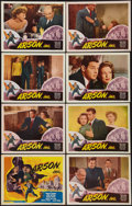 """Movie Posters:Crime, Arson Inc. (Lippert, 1949). Lobby Card Set of 8 (11"""" X 14"""").Crime.. ... (Total: 9 Items)"""
