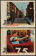 """Movie Posters:Documentary, The James Dean Story (Warner Brothers, 1957). Lobby Cards (2) (11"""" X 14""""). Documentary.. ... (Total: 2 Items)"""