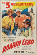 "Movie Posters:Western, Roarin' Lead (Republic, R-1947). One Sheet (27"" X 41""). Western.. ..."