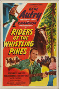 """Movie Posters:Western, Riders of the Whistling Pines (Columbia, 1949). One Sheet (27"""" X41""""). Western.. ..."""