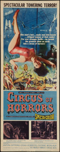 "Movie Posters:Horror, Circus of Horrors (American International, 1960). Insert (14"" X 36""). Horror.. ..."