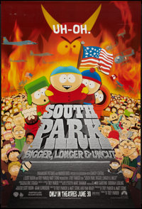 "South Park: Bigger Longer & Uncut (Paramount, 1999). One Sheet (27"" X 40"") Advance. Animation"