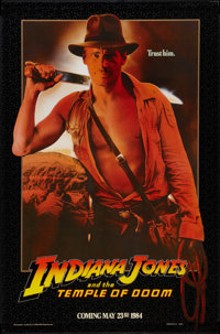 """Indiana Jones and the Temple of Doom (Paramount, 1984). One Sheet (27"""" X 41"""") Advance. Adventure"""