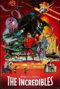 "The Incredibles (Buena Vista, 2004). One Sheets (2) (27"" X 40"") SS & DS, Advance & Collage Styles. Ani..."