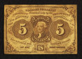 Fractional Currency:First Issue, Fr. 1230 5¢ First Issue Fine-Very Fine.. ...