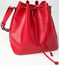 Luxury Accessories:Bags, Heritage Vintage: Louis Vuitton Red Epi Leather Noe Bag. ...