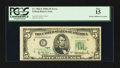 Error Notes:Doubled Third Printing, Fr. 1962-E $5 1950A Federal Reserve Note. PCGS Fine 15.. ...