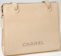 Luxury Accessories:Bags, Heritage Vintage: Chanel Beige Caviar Leather Handbag. ...