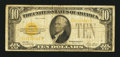 Small Size:Gold Certificates, Fr. 2400 $10 1928 Gold Certificate. Very Good.. ...