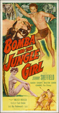 "Movie Posters:Adventure, Bomba and the Jungle Girl (Monogram, 1953). Three Sheet (41"" X80""). Adventure.. ..."