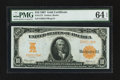 Large Size:Gold Certificates, Fr. 1172 $10 1907 Gold Certificate PMG Choice Uncirculated 64 EPQ.....