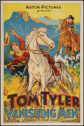 "Movie Posters:Western, Vanishing Men (Monogram, 1932). One Sheet (27.25"" X 41""). Western.. ..."