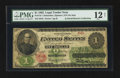 Large Size:Legal Tender Notes, Fr. 17d $1 1862 Legal Tender PMG Fine 12 Net.. ...