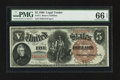 Large Size:Legal Tender Notes, Fr. 71 $5 1880 Legal Tender PMG Gem Uncirculated 66 EPQ.. ...