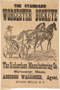 Advertising:Signs, Agricultural Implements: Buckeye Mower Linen Banner....