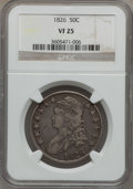 Bust Half Dollars: , 1826 50C VF25 NGC. NGC Census: (23/1375). PCGS Population(32/1657). Mintage: 4,000,000. Numismedia Wsl. Price for problem...