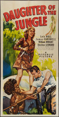 "Movie Posters:Adventure, Daughter of the Jungle (Republic, 1949). Three Sheet (41"" X 80.5"").Adventure.. ..."