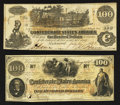 Confederate Notes:1862 Issues, T39 $100 1862 PF-15 Cr. UNL and T-41 $100 1862 PF-17 Cr. 318.. ...(Total: 2 notes)