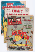 Golden Age (1938-1955):Miscellaneous, Comic Books - Assorted Low-grade Golden Age Comics Group (Various Publishers, 1940s-'50s) Condition: Average FR.... (Total: 15 Comic Books)