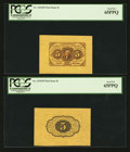 Fractional Currency:First Issue, Fr. 1231SP 5¢ First Issue Wide Margin Pair PCGS Gem New 65PPQ.. ...(Total: 2 notes)