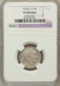 Buffalo Nickels, 1918/7-D 5C -- Damaged -- NGC Details. VF. FS-101....