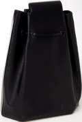 Luxury Accessories:Bags, Heritage Vintage: Louis Vuitton Black Epi Leather One StrapSac a Dos Backpack. ...