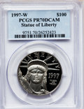 Modern Bullion Coins: , 1997-W P$100 One-Ounce Platinum Eagle PR70 Deep Cameo PCGS. PCGSPopulation (69). NGC Census: (323). Mintage: 16,000. Numis...