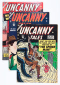 Golden Age (1938-1955):Horror, Uncanny Tales #24-26 Group (Atlas, 1954) Condition: Average VG....(Total: 3 Comic Books)