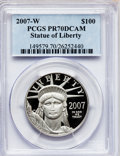Modern Bullion Coins, 2007-W $100 One-Ounce Platinum Eagle PR70 Deep Cameo PCGS. PCGSPopulation (170). NGC Census: (0). Numismedia Wsl. Price f...