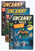 Golden Age (1938-1955):Horror, Uncanny Tales #12, 16, and 17 Group (Atlas, 1953-54) Condition:Average VG.... (Total: 3 Comic Books)