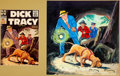Original Comic Art:Covers, Dick Tracy Monthly #102 Painted Cover Original Art (Harvey,1956)....