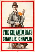 Memorabilia:Poster, Charlie Chaplin The Kid Auto Race Movie Poster(Keystone/Hennegan & Co., 1914)....