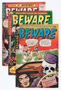 Golden Age (1938-1955):Horror, Beware #8, 9, 11, and 15 Group (Trojan/Prime, 1954-55) Condition:Average VG-.... (Total: 4 Comic Books)