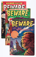 Golden Age (1938-1955):Horror, Beware Group (Trojan/Prime, 1953-55) Condition: Average GD/VG....(Total: 5 Comic Books)