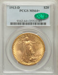 Saint-Gaudens Double Eagles, 1913-D $20 MS64+ PCGS. CAC....